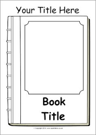 templates for book covers free free book cover template for kids tim s printables art education