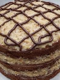 german chocolate cake with cream cheese filling our