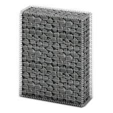 Garden Baskets Wall by Gabion Basket Wall With Lids Galvanized Wire 100 X 80 X 30 Cm