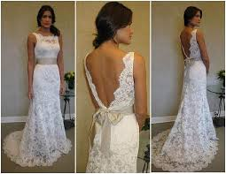wedding dresses with bows lace low back wedding dress with bow fashion