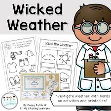 science weather unit sunny rainy cloudy stormy windy snowy