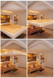 12 Best Space Saving In by Bedroom Designs 14 Concealed In Ceiling Bed Space Saving Beds