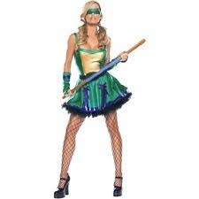 Ninja Turtle Womens Halloween Costumes Womens Ninja Turtle Costume Ebay