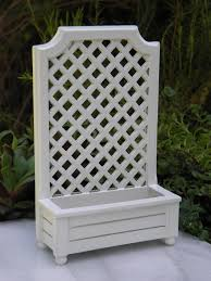 miniature dollhouse fairy garden accessories white wood trellis
