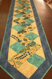 zig zag table runner patchwork quilted green cream table runner sage green table decor