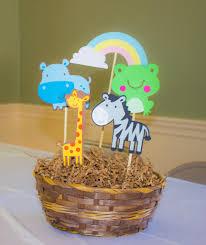 centerpiece for noah u0027s ark party kaleb first birthday