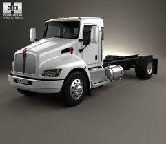 2009 kenworth truck kenworth t370 chassis truck 2009 3d model hum3d