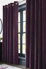 Plum Faux Silk Curtains Plum Faux Silk Lined Curtains With Eyelet Ring Top 66 X 54