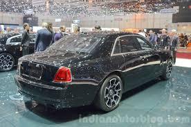 Rolls Royce Ghost Black Badge Edition Rear Quarter At 2016 Geneva