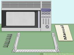how to install over the range microwave without a cabinet how to install an over the range microwave 15 steps