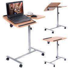 Portable Laptop Desk On Wheels Adjustable Laptop Notebook Desk Table Stand Holder Swivel Home