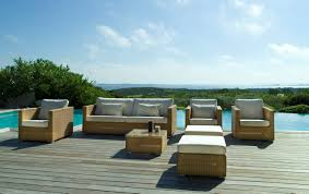 Outdoor Deck Furniture by Shipshape Rattan Seating By Modern Outdoor Furniture With Ottomans