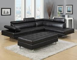 Black Leather Sofa With Chaise Outstanding Fabulous Contemporary Black Leather Sofa Modern
