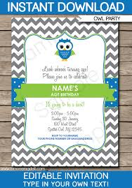 owl birthday party invitations owl invitations template