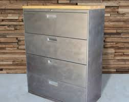 Metal Filing Cabinet Refinished 3 Drawer Metal Filing Cabinet 30 36