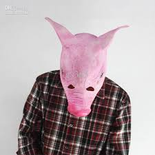 Quality Halloween Costume Quality Creepy Pig Mask Head Halloween Costume Theater Prop