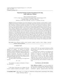 numerical solution of partial diffeial equations finite difference