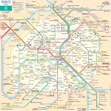 Madrid Subway Map Map Of Paris Subway Underground U0026 Tube Metro Stations U0026 Lines