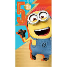 despicable me 3 minion age 5 birthday card danilo