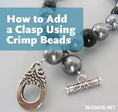 bead necklace clasp images How to add a clasp using crimp beads beadage jpg