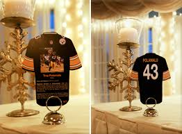 themed table numbers football jersey table numbers great for a sports themed event