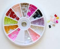 amazon com bow bows pearl nail art stone wheel rhinestones beads
