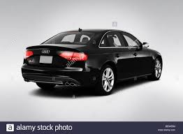 audi s4 v6 supercharged 2010 audi s4 v6 supercharged in black rear angle view stock