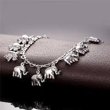 wholesale animal necklace images U7 little elephant anklet for women gift 18k gold platinum plated jpeg