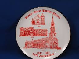 anniversary plate 1908 1987 baptist church 80th anniversary plate