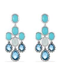 blue chandelier earrings david yurman chandelier earrings with blue topaz turquoise and