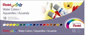 amazon com pentel arts pocket amazon com pentel arts water colors assorted colors pack of 18