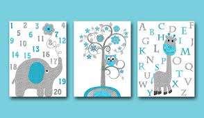 Giraffe Baby Decorations Nursery by Gray Turquoise Elephant Nursery Giraffe Nursery Baby Room