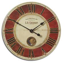 23 inch s b chieron wall clock clocks for rustic decor