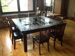 dining dining room glass and wood dining table rectangle pool