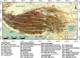 Tibetan Plateau Map Source To Sink Relation Between The Eastern Kunlun Range And The
