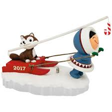 frosty friends sled ornament keepsake ornaments hallmark