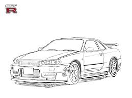 nissan 350z drawing nissan skyline r34 drawing by revolut3 car pinterest nissan