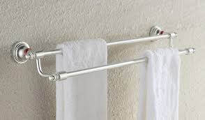 Bathroom Accessories Towel Racks by Luxury Bathroom Accessories Set Double Towel Rack Interior Design