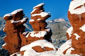 Garden Of The Gods Rock Formations Colorado Photograph Winter Garden Of The Gods