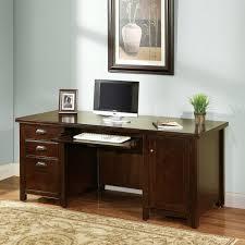 Cherry Computer Desk With Hutch Kathy Ireland Home By Martin Furniture Tribeca Loft Cherry