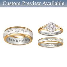 Wedding Ring Sets His And Hers by Bridal U0026 Wedding Rings Set Bradford Exchange