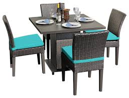 Square Dining Room Table For 4 Venus Square Dining Table With Armless Chairs 5 Piece Set