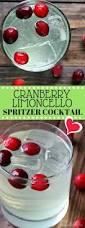 cranberry limoncello spritzer cocktail recipe italian cocktail
