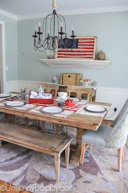 Fourth Of July Table Decoration Ideas Decorating The New Dining Room Table For The 4th Of July