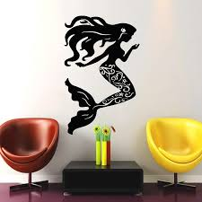 nautical sea shells series wall stickers home decor living room nautical sea shells series wall stickers home decor living room pretty mermaid with long hair art silhouette wall decal vinyl for wall decals vinyl sticker
