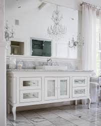 mirrored cabinet doors and drawer fronts on bath vanity french