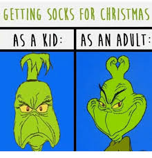 Adult Christmas Memes - getting socks for christmas as a kid as an adult christmas meme