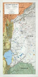 Map Of Syria And Israel by