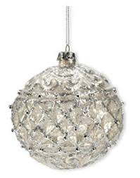 silver glass decorations lights card and decore