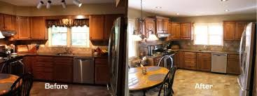 Restain Kitchen Cabinets Darker Staining Kitchen Cabinets Before And After Pictures Memsaheb Net